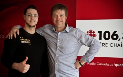 Gino A. Vaillancourt & Claude Bernatchez  radio-canada 106,3 quebec