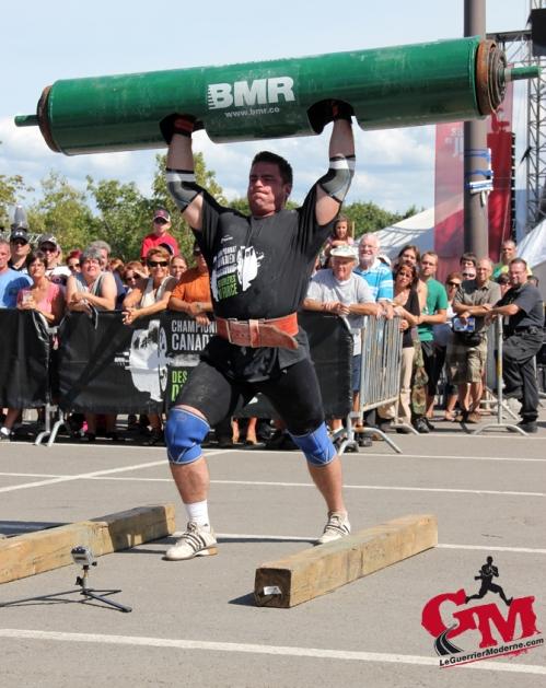 Log Press Strong Man Kealan Brenan
