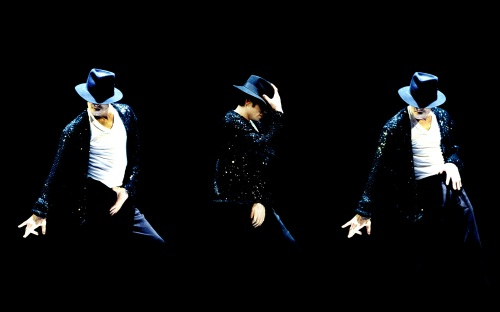 Michael Jackson dancing to his famous hit Billie Jean in 1995.